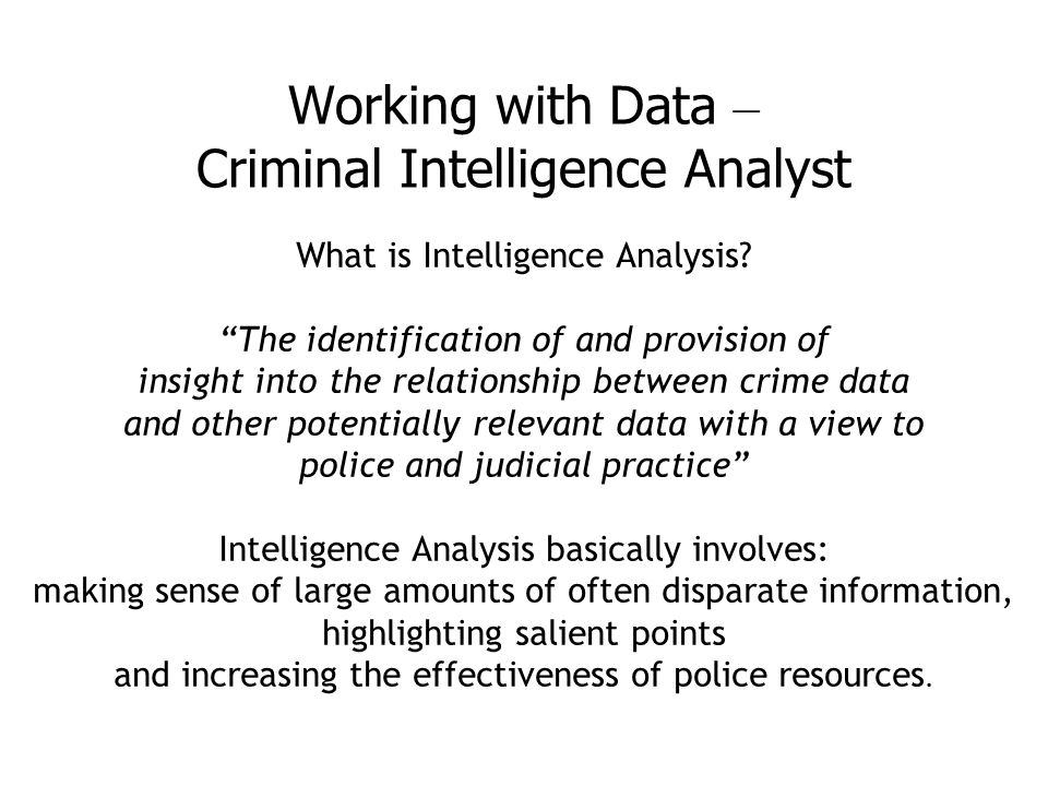Image result for hermeneutics of crime and intelligence analysis