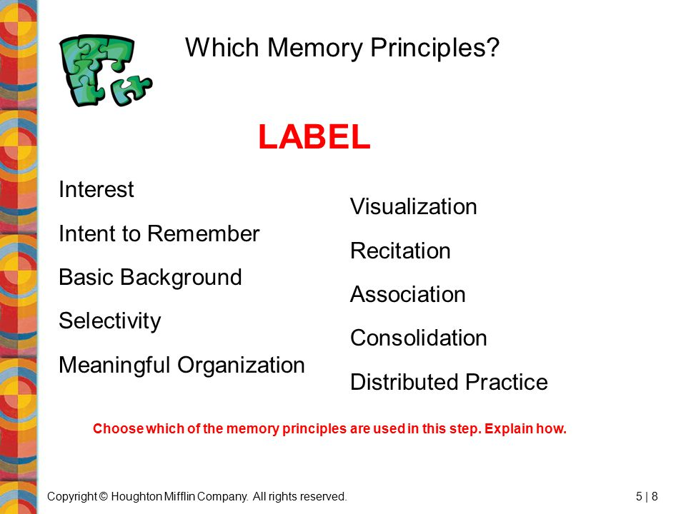 Which Memory Principles