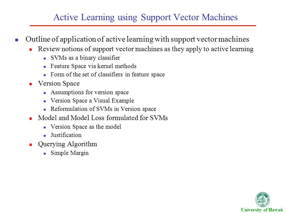 Active Learning with Support Vector Machines - ppt video online download