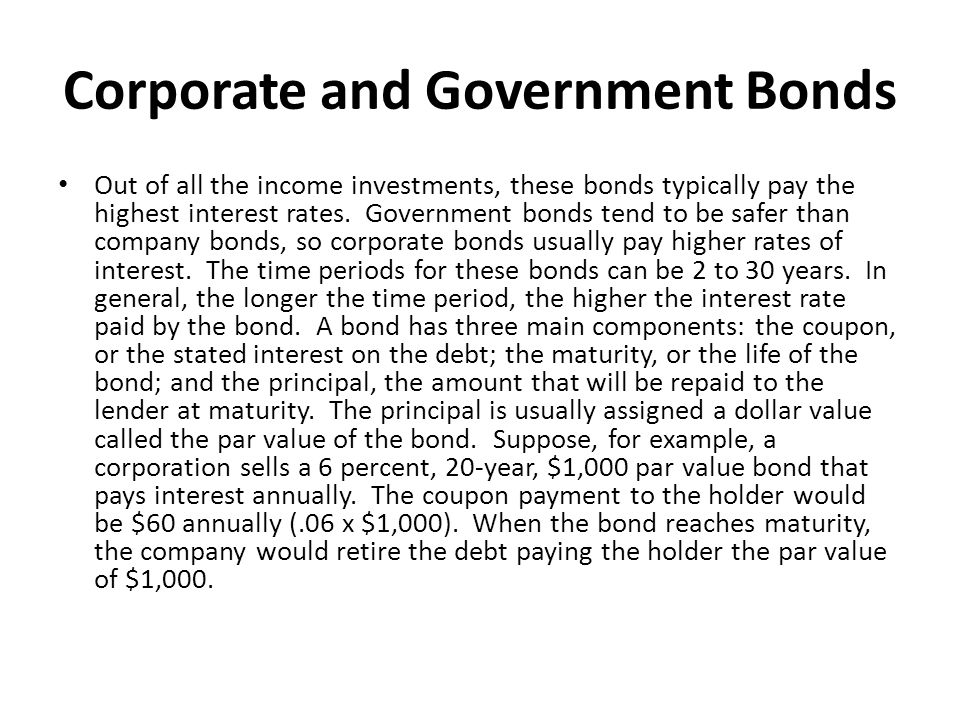 Corporate and Government Bonds