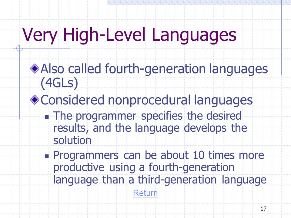 Very High-Level Languages
