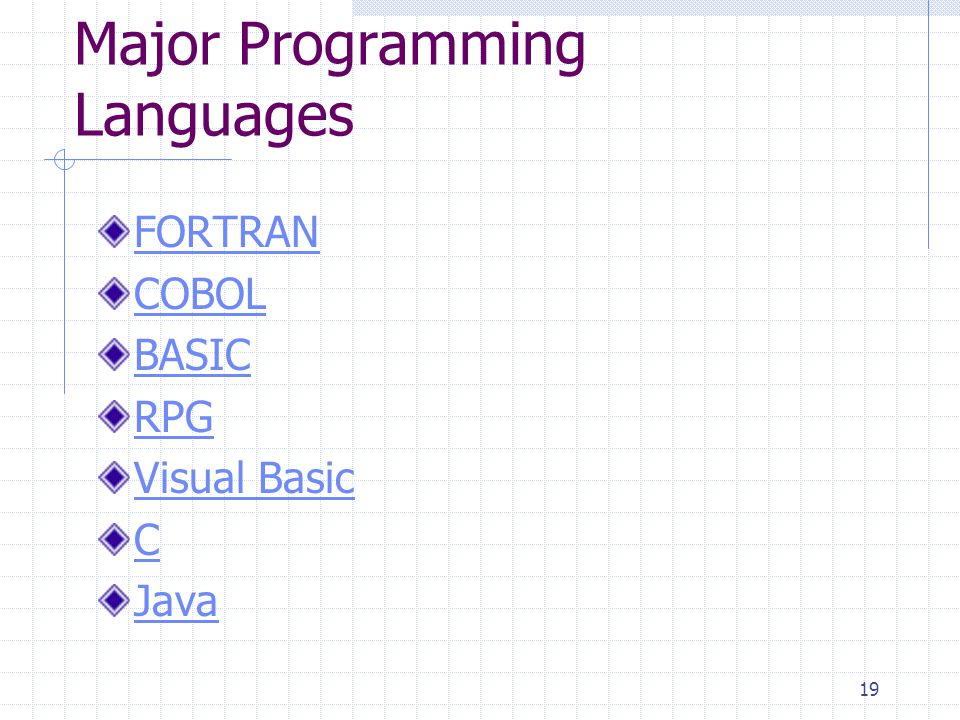 Major Programming Languages