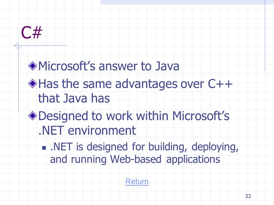 C# Microsoft's answer to Java