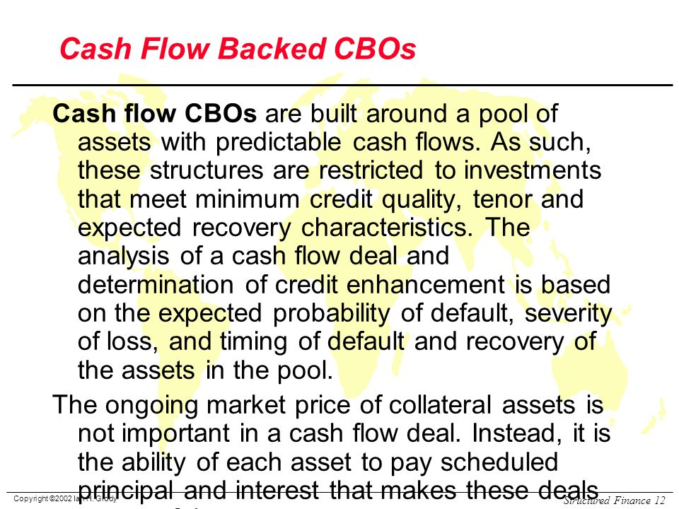 Cash Flow Backed CBOs