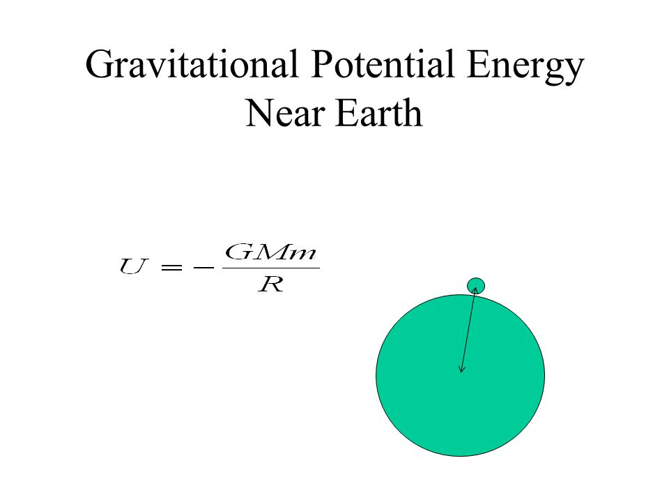 Gravitational Potential Energy Near Earth