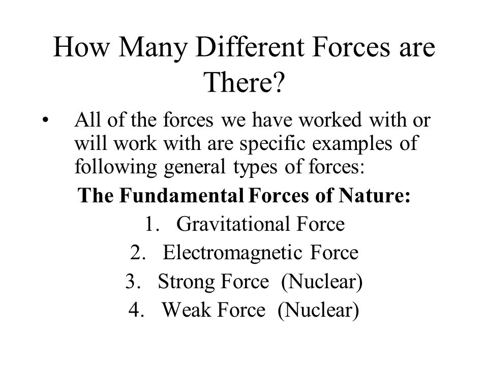 How Many Different Forces are There