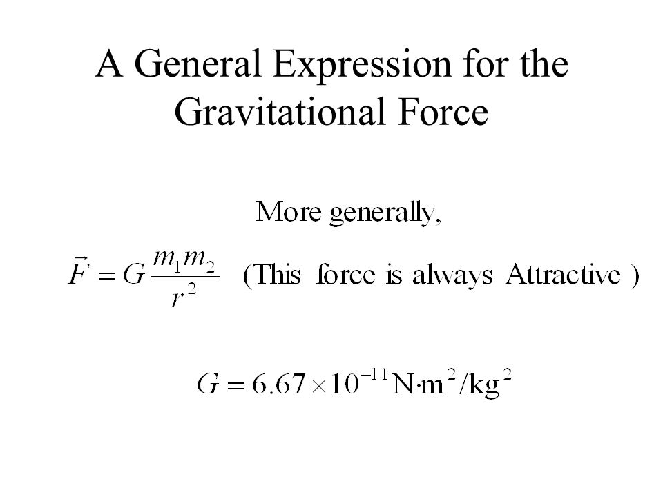 A General Expression for the Gravitational Force