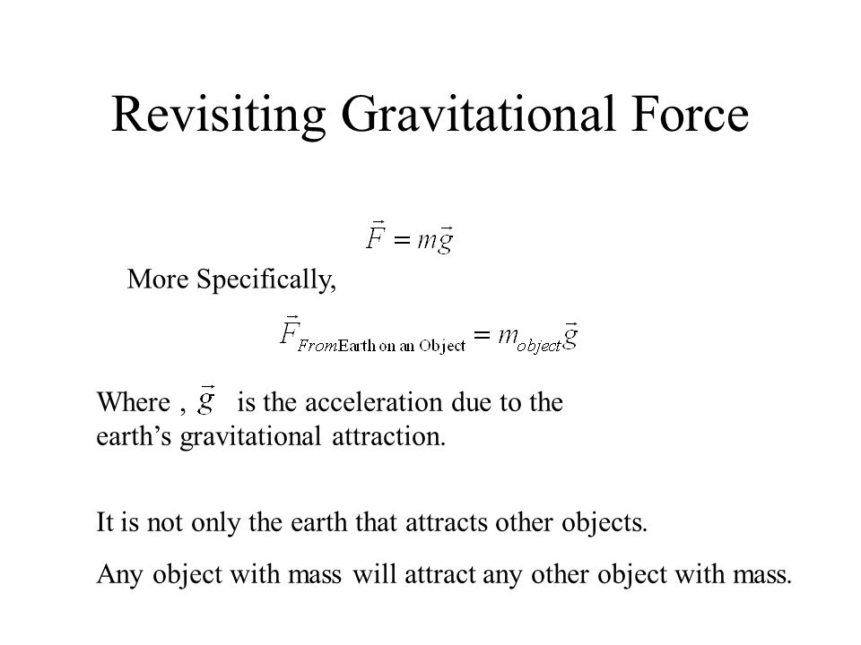Revisiting Gravitational Force