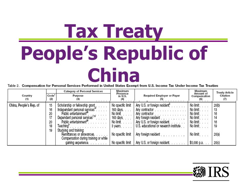 china u s tax treaty Dual social security tax liability is a widespread problem for us multinational companies and their employees because the us social security program covers expatriate workers--those coming to the united states and those going abroad--to a greater extent than the programs of most other countries.