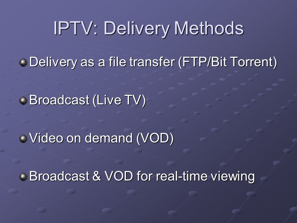 Internet Protocol Television - ppt download