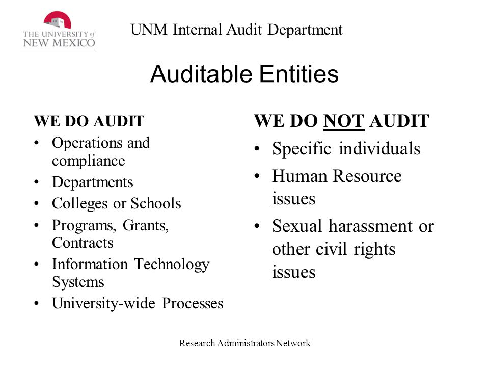 Audit sexual harassment