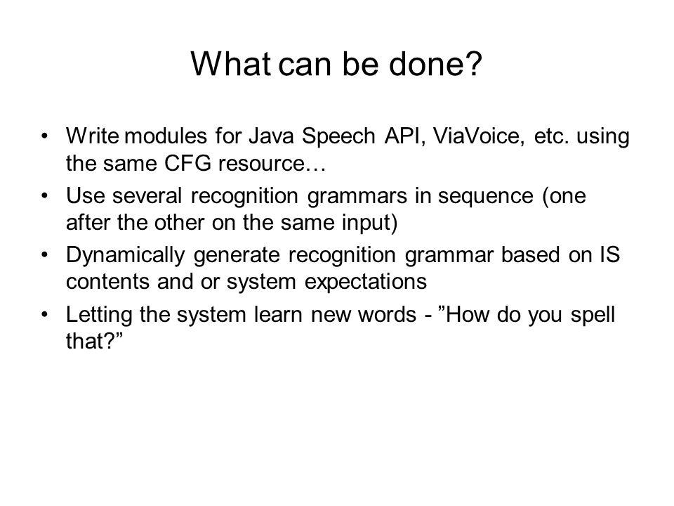 Speech recognition grammars as TRINDIKIT resources - ppt