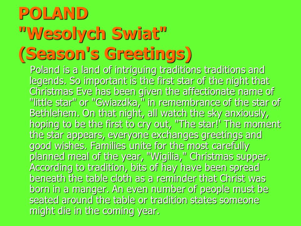 Poland ppt download poland wesolych swiat season s greetings m4hsunfo