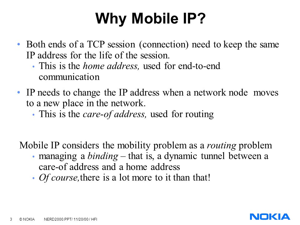 Mobile computing mobile ip introduction docsity.