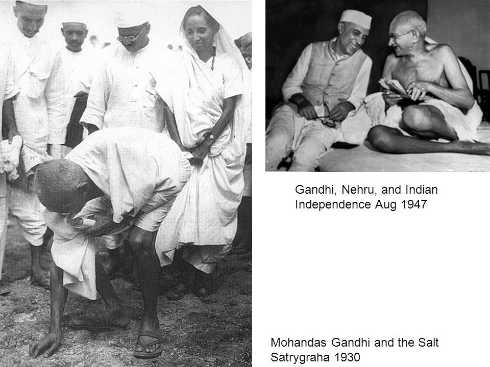 Gandhi, Nehru, and Indian Independence Aug 1947