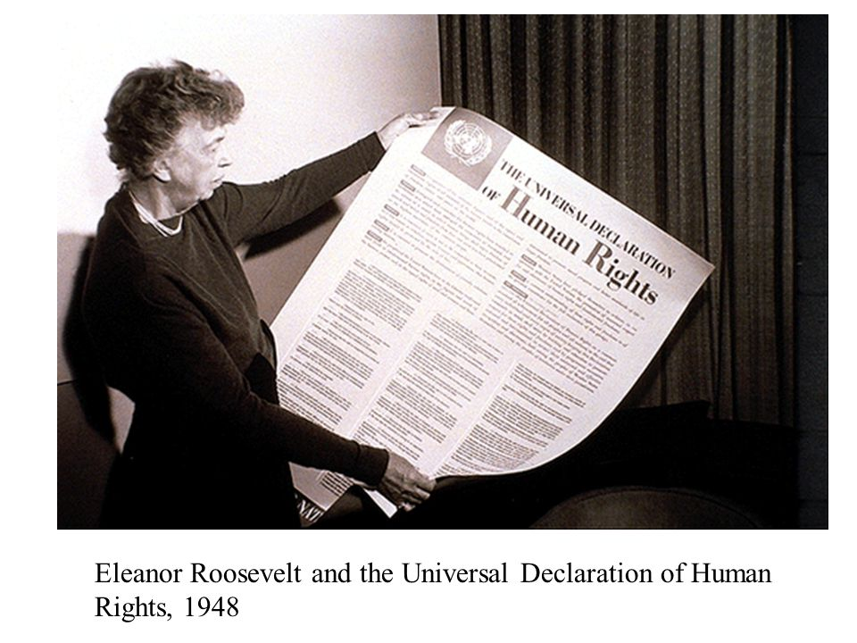Eleanor Roosevelt and the Universal Declaration of Human Rights, 1948