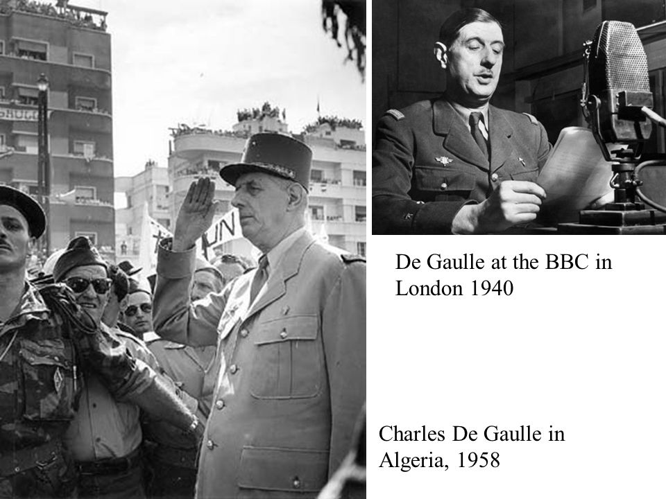 De Gaulle at the BBC in London 1940
