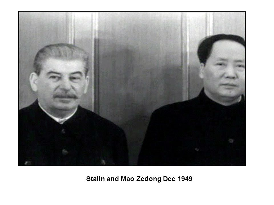 Stalin and Mao Zedong Dec 1949