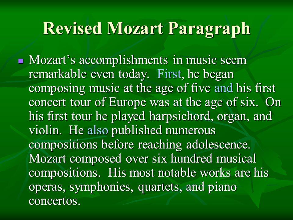 mozart accomplishments