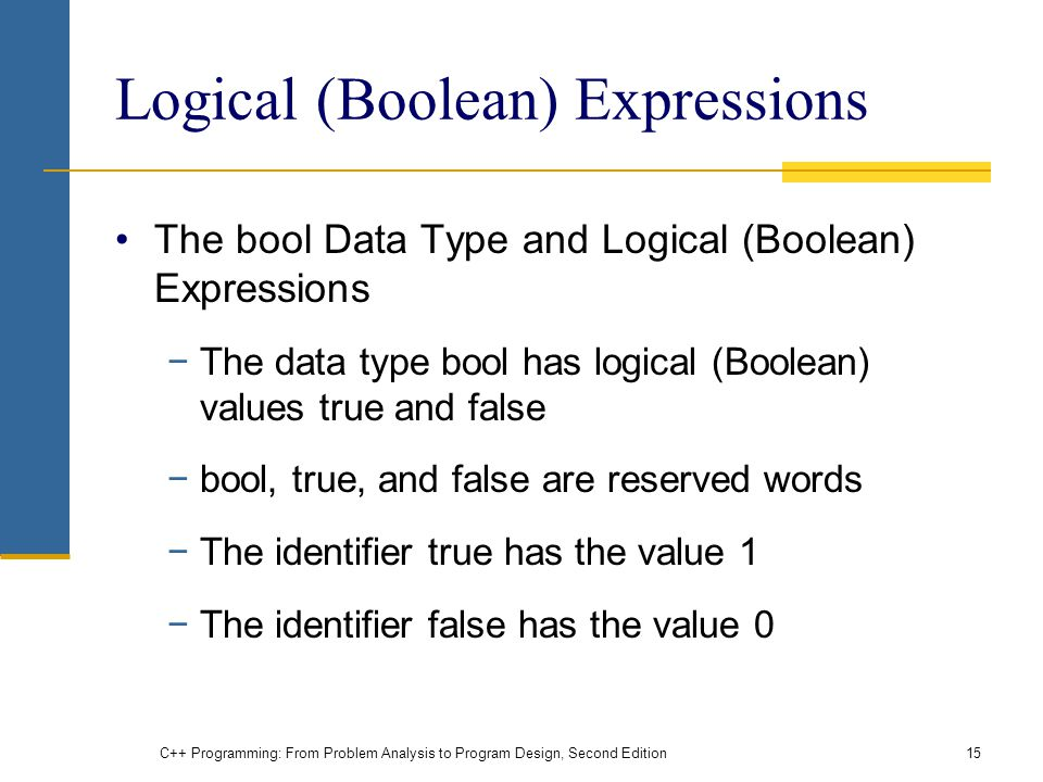 Logical (Boolean) Expressions