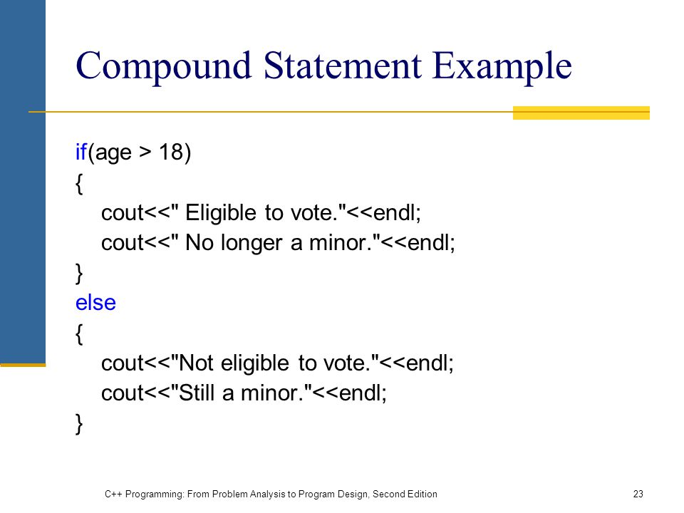 Compound Statement Example