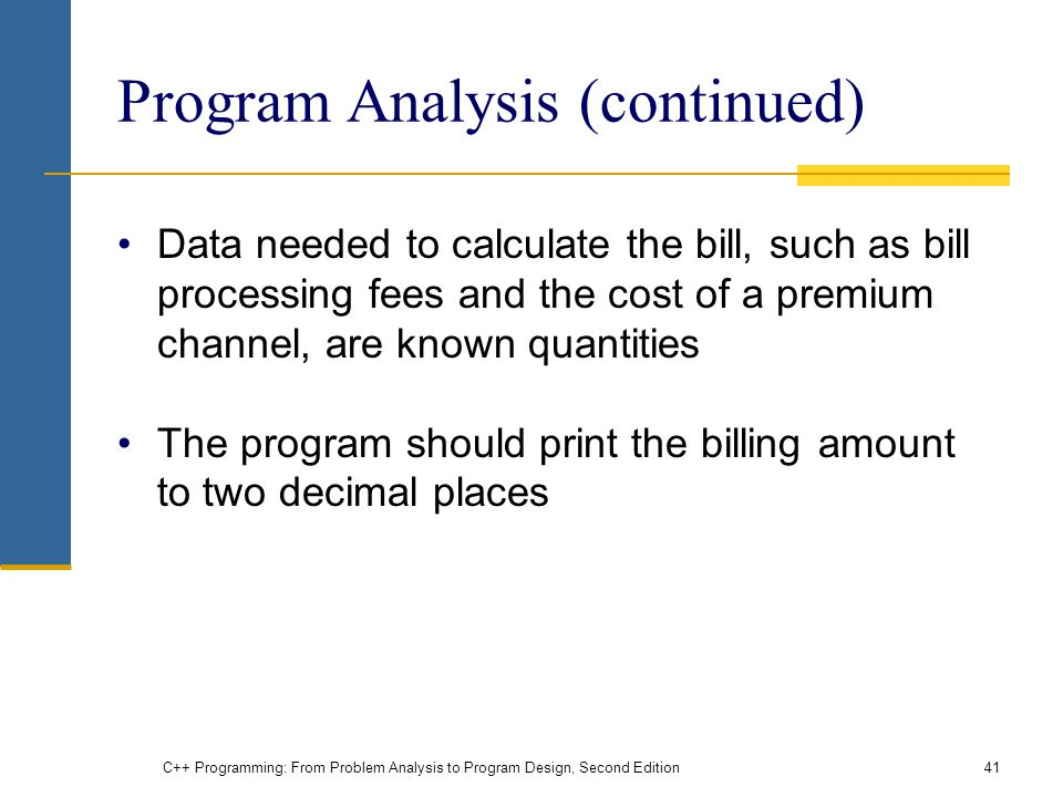 Program Analysis (continued)