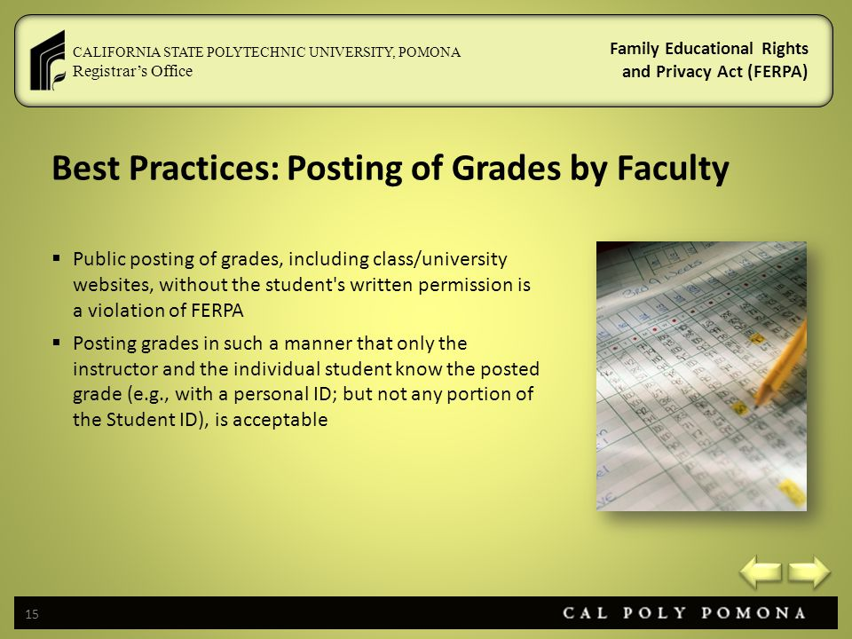 Best Practices: Posting of Grades by Faculty