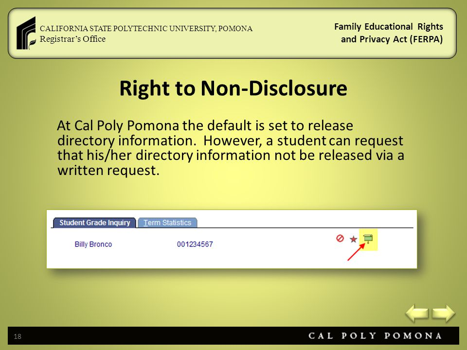 Right to Non-Disclosure