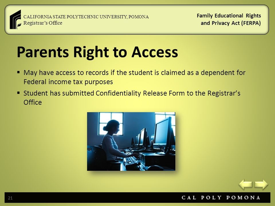 Parents Right to Access