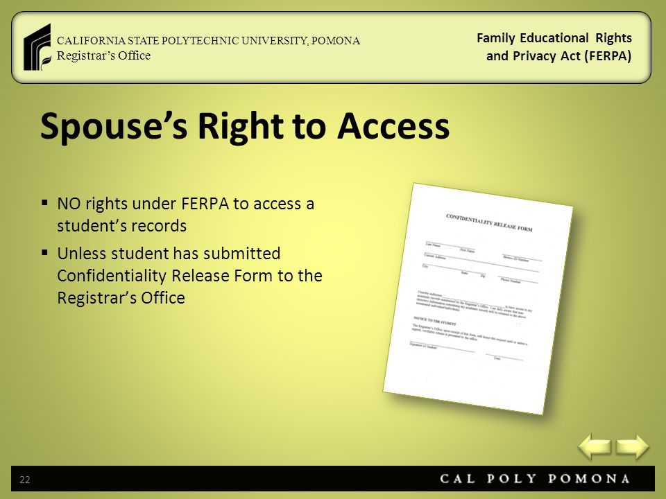Spouse's Right to Access