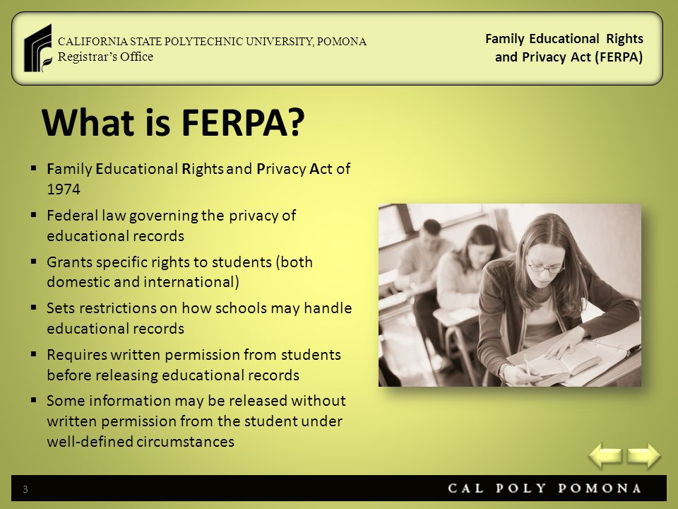 What is FERPA Family Educational Rights and Privacy Act of 1974