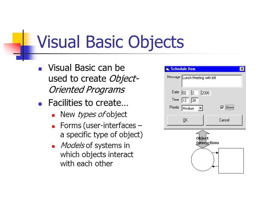 Visual Basic: An Object Oriented Approach - ppt download