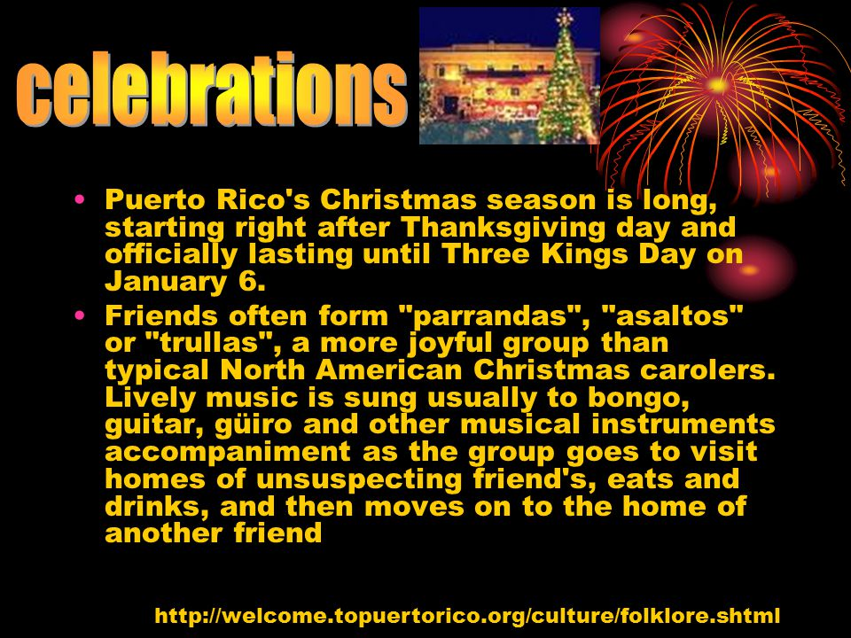 celebrations puerto rico s christmas season is long starting right after thanksgiving day and officially - Puerto Rican Christmas Music