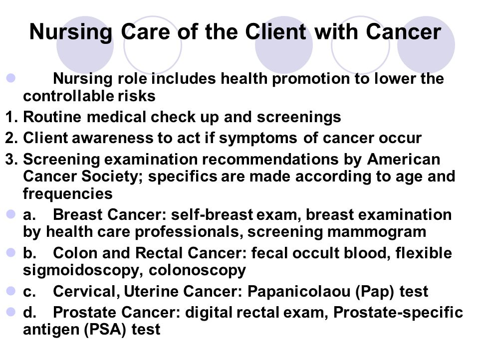 role in breast cancer Nursing