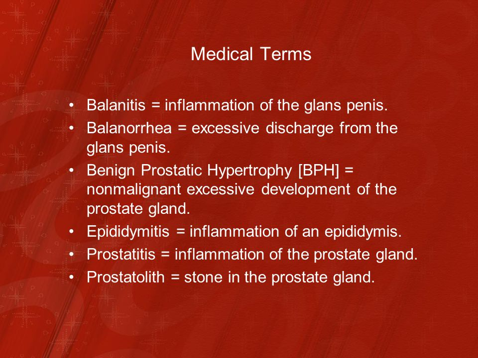 Prostatitis és balanit