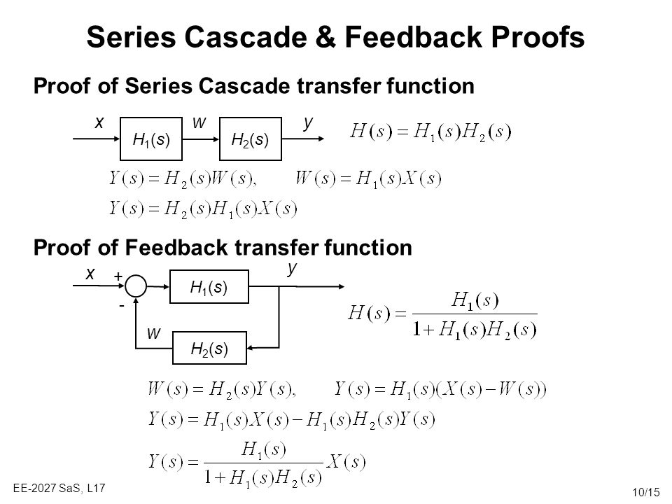 Series Cascade & Feedback Proofs