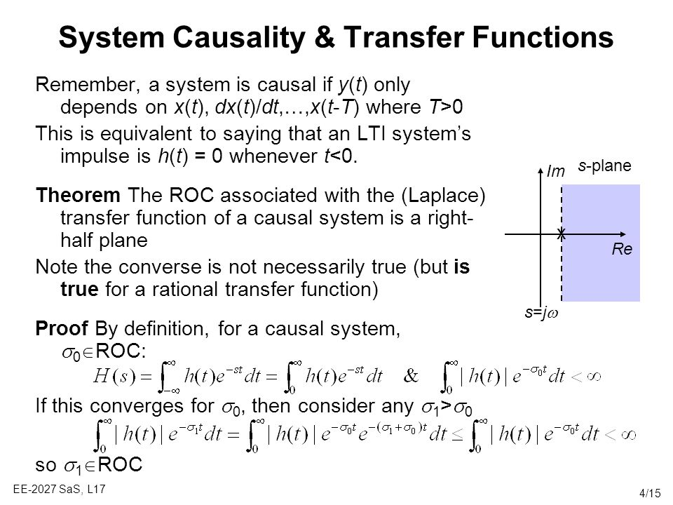 System Causality & Transfer Functions