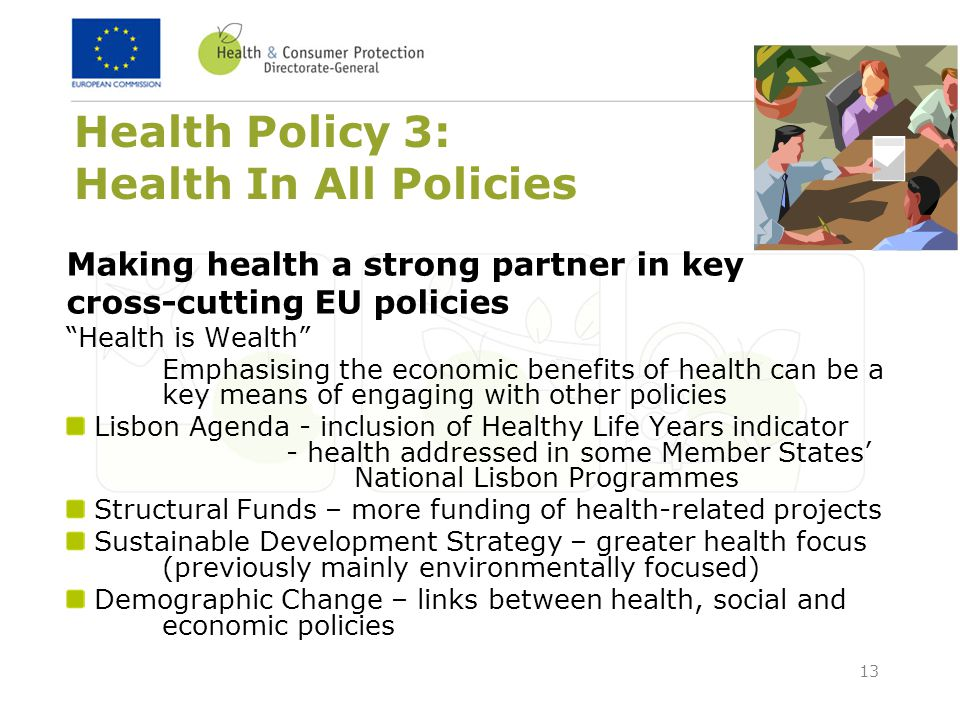 Health Policy 3: Health In All Policies
