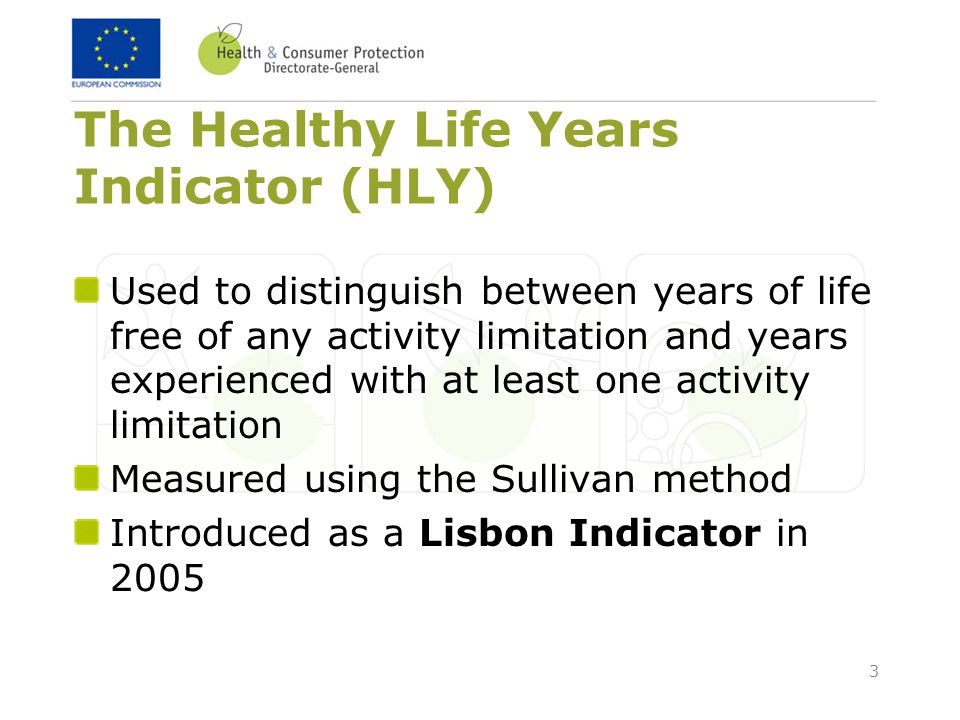 The Healthy Life Years Indicator (HLY)