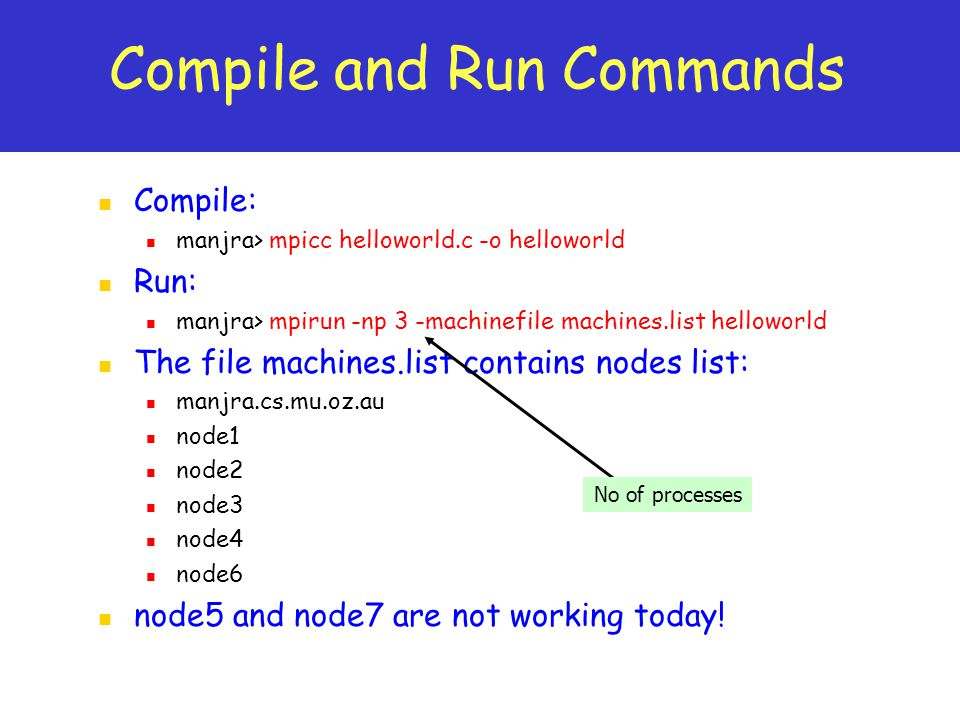 Compile and Run Commands