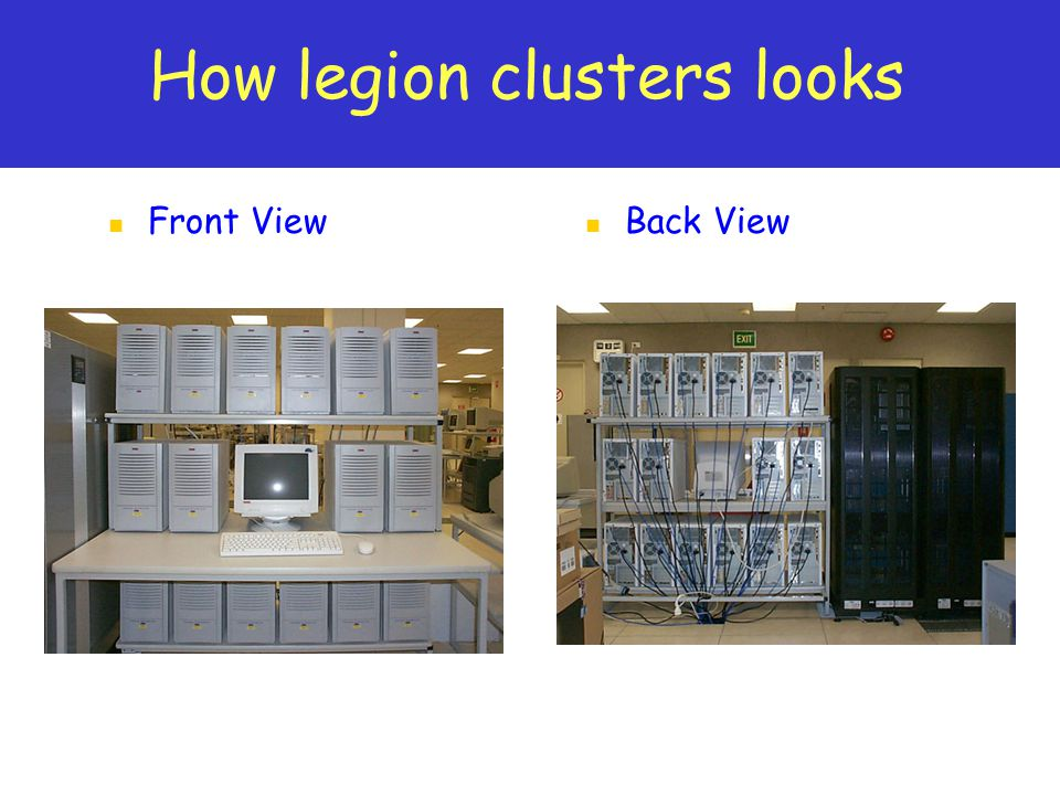 How legion clusters looks