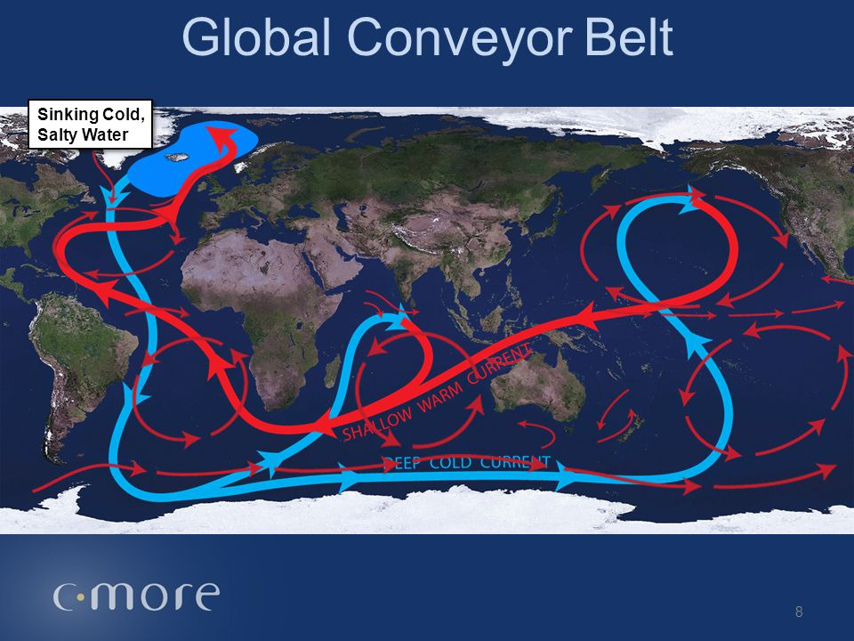 Global Conveyor Belt Sinking Cold, Salty Water