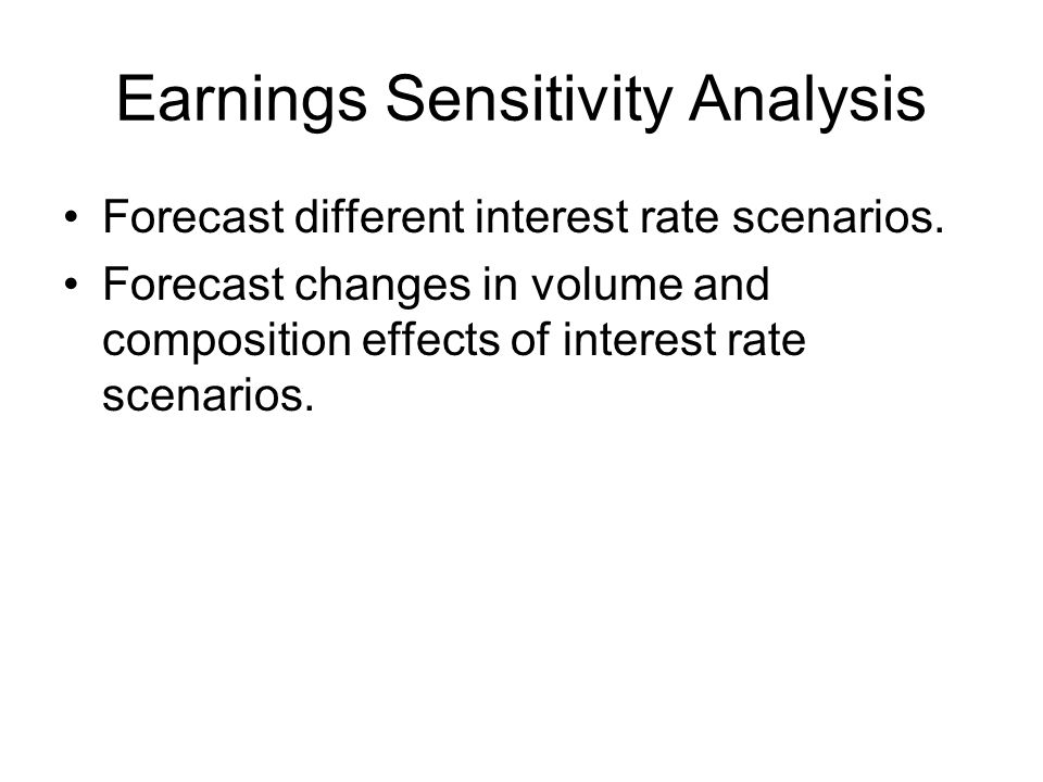 Earnings Sensitivity Analysis