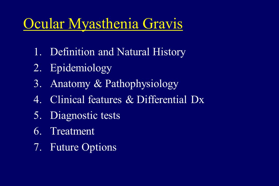 Ocular Myasthenia Gravis: Past, Present, and Future - ppt video ...