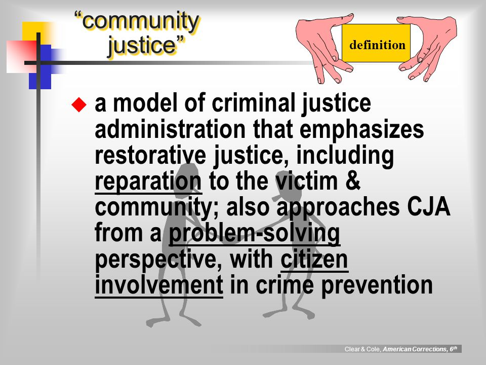 24 definition community justice