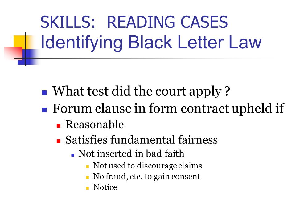 what is black letter law conceptual framework choosing a trial court ppt 44110