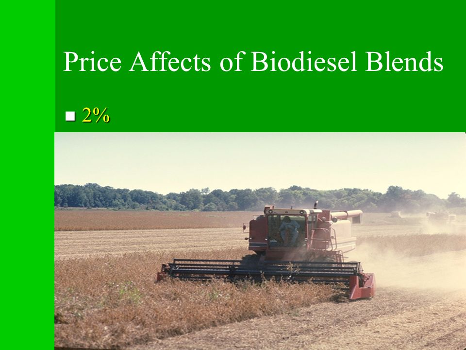 Price Affects of Biodiesel Blends