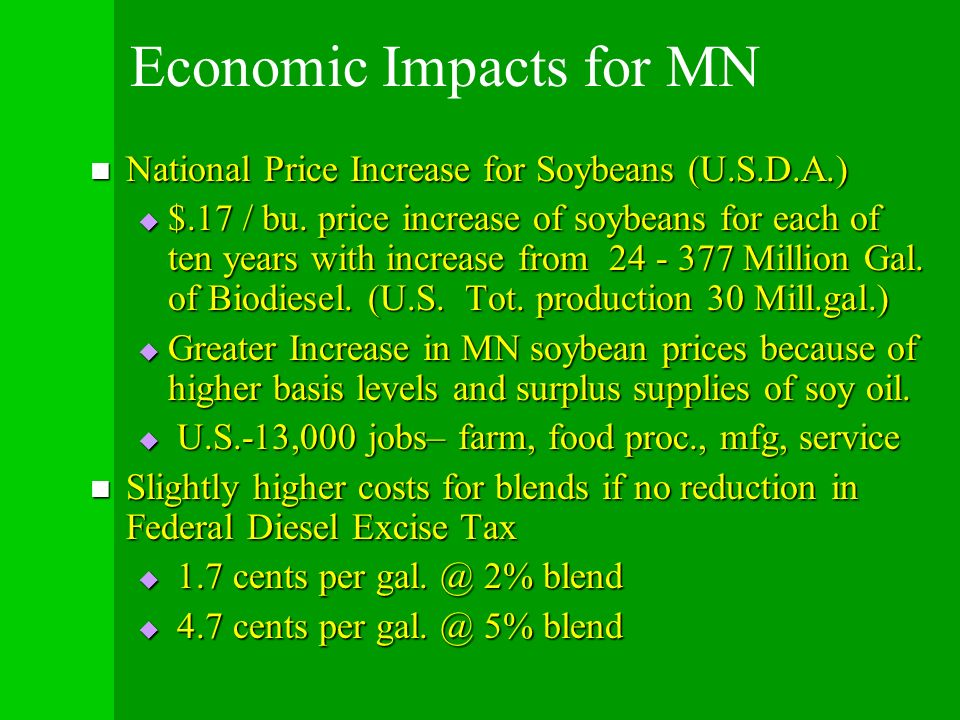 Economic Impacts for MN