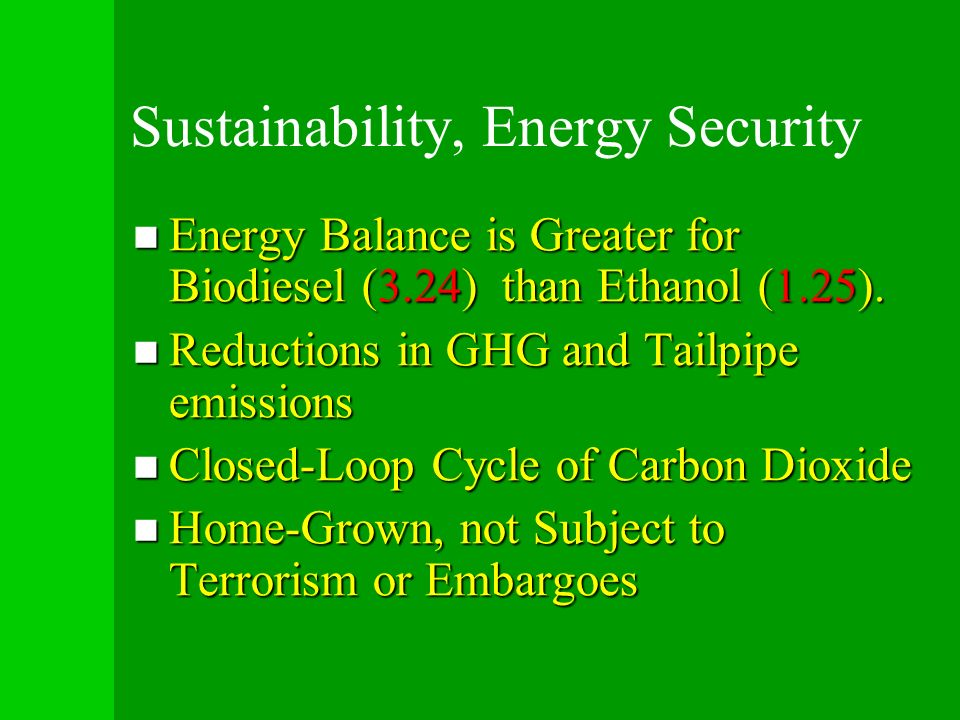 Sustainability, Energy Security