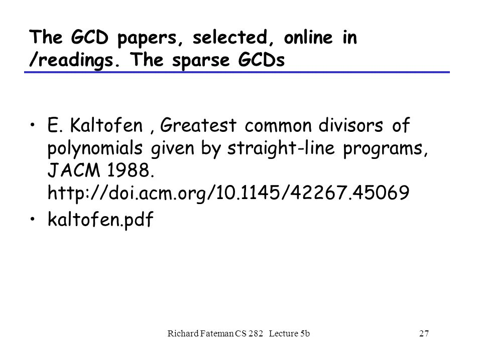Polynomial Division, Remainder,GCD - ppt video online download